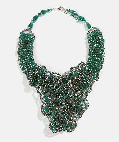3253b3608e64 Collar de cristales con flores Collar Mujer Bisutería